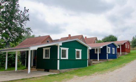 Bungalows auf dem  Campingplatz Ostseequelle