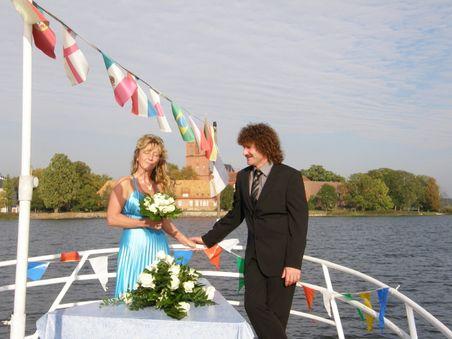 Trauung auf dem Dobbertiner See