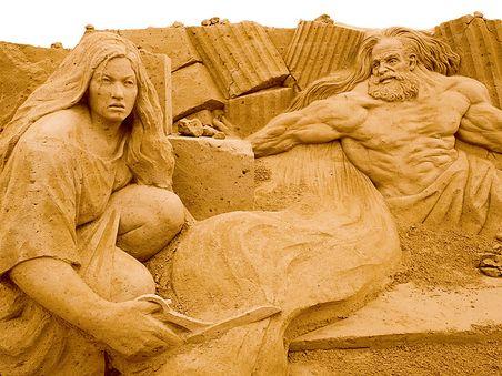 Rügener Sandskulpturen-Festival in Binz