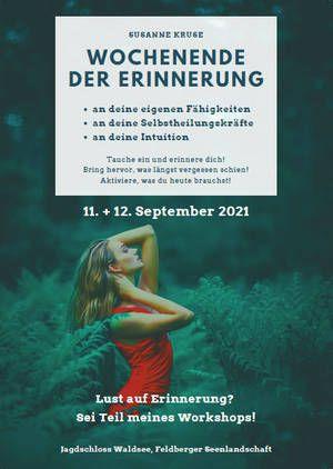 Wochenende der Erinnerung - Workshop Jagdschloss Waldsee