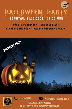 Halloween-Party Jagdschloss Waldsee Feldberger Seenlandschaft
